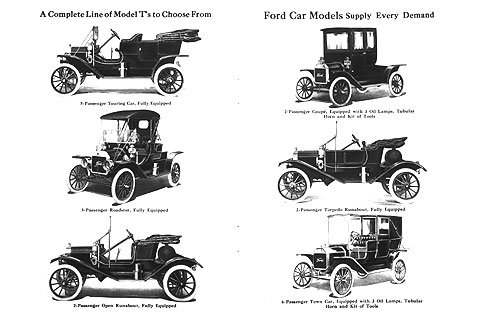 The Model T was available in many body styles.