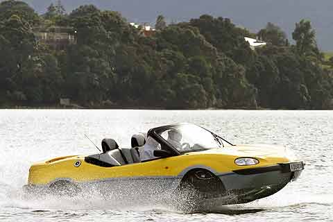 Gibbs Technology Ltd. has developed the Aquada, an amphibious sports car with a composite body