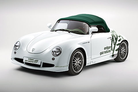 Turbo-CNG is a replica of a Porsche 356 roadster, one the all time great Porsche models