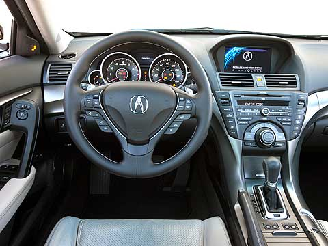 Materials in the Acura TL's cabin have been tweaked for 2012. Overall, the cabin feels like a cool, high-tech place.