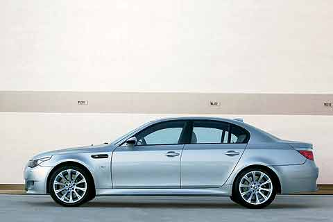 2008 BMW M5 high-performance luxury sedan has a 500 horsepower V10 engine