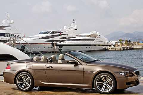 2008 BMW M6 high-performance luxury convertible has a 500 horsepower V10 engine and is also available in a coupe