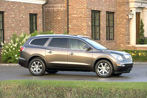 The Enclave actually looks dramatically different -- and I think better -- than its GMC and Saturn siblings.