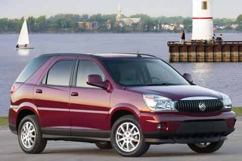 The 2007 Buick Rendezvous mid-size crossover sport utility vehicle SUV