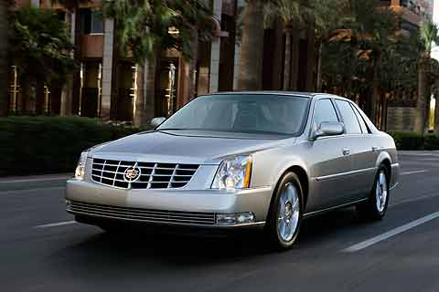 The 2008 Cadillac DTS full-size luxury sedan (MSRP $43,490 - $57,480) is available in three trim levels V8, Performance and Platinum