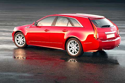 The CTS Sport Wagon is essentially a CTS sedan with a cargo area grafted onto the back end
