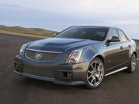 A bulging hood is the biggest giveaway that you're not looking at an ordinary Cadillac CTS, but the super-quick 2012 CTS-V sedan. It has a supercharged engine that's so big it can't fit under the ordinary hood
