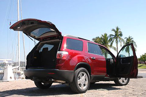 The GMC tester came with a navigation system, rear-seat DVD player and other features.