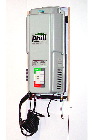 Phill can be installed in the garage or outside so you can refuel off of the household natural gas supply.