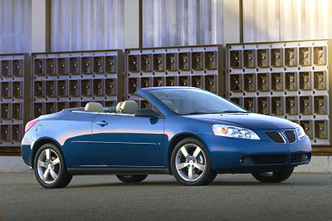 Pontiac G6 (2007) - enlarge. What was tested? 2007 Pontiac G6 GT Convertible