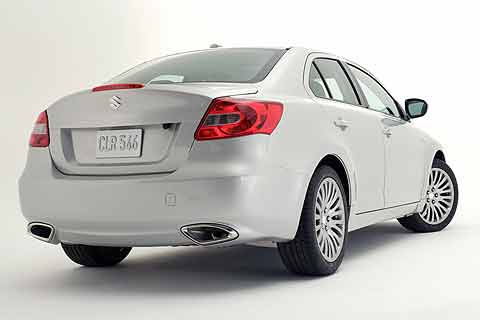 2010 Suzuki Kizashi SLS Sport Compact Sedan rear exterior photo